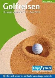 Golfreisen-Katalog - Berge & Meer