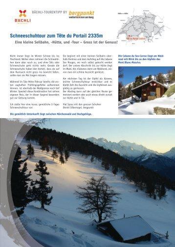 31. Schneeschuhtour zum Tête du Portail 2335m - Bergpunkt