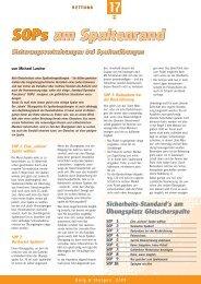 SOPs am Spaltenrand SOPs am Spaltenrand - Bergundsteigen
