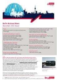 Berlin Business News December 2012 Issue - Berlin Partner GmbH