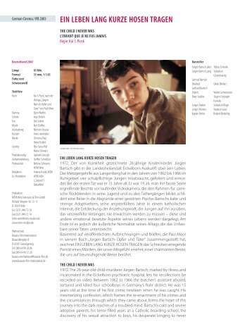 EIN LEBEN LANG KURZE HOSEN TRAGEN - Berlinale