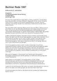 Text of the 1997 Berliner Rede - Berlin Partner GmbH