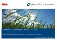 kommunen als betreiber von ee anlagen - Berliner Energietage