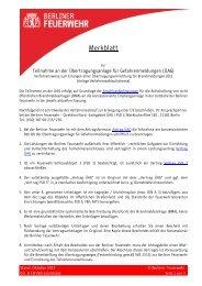 Teilnahme an der Übertragungsanlage für Gefahrenmeldungen (ÜAG)