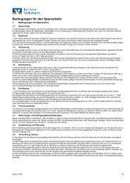Bedingungen für den Sparverkehr - Berliner Volksbank