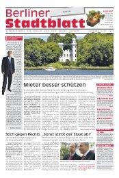Mieter besser schützen - Berliner Stadtblatt