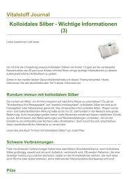 Vitalstoff Journal Kolloidales Silber - Wichtige ... - Bermibs.de