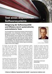 'Test eines dispositiven Softwaresystems' (pdf) - Berner & Mattner