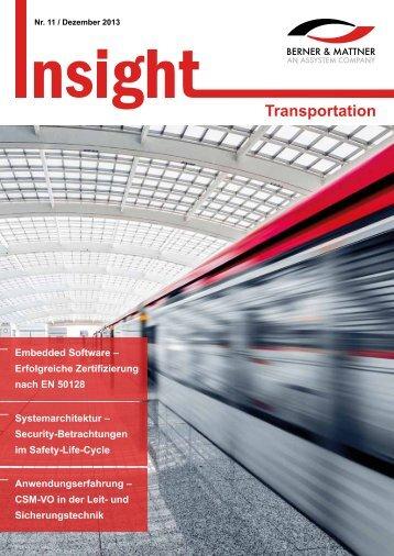 11. Newsletter 'Insight Transportation' (pdf 2,0 MB) - Berner & Mattner