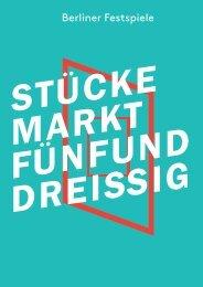 Stückemarkt-Broschüre 2013 - Berlin - Berliner Festspiele