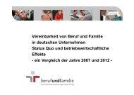 Vereinbarkeit von Beruf und Familie in deutschen Unternehmen ...