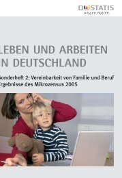 Leben und Arbeiten in Deutschland. Sonderheft 2 - Beruf & Familie ...