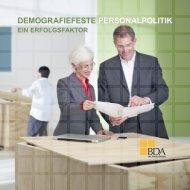 DEMOGRAFIEFESTE PERSONALPOLITIK - Beruf & Familie gGmbH