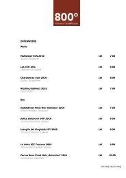 Getränkekarte 800 - Best of Swiss Gastro
