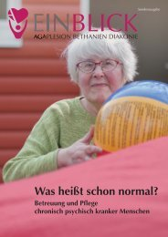 """EINBLICK Sonderheft """"Was heißt schon normal?"""" - AGAPLESION ..."""
