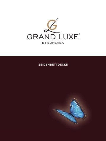 Grand Luxe Broschüre Seidendecke - Betten Thaler