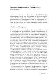 Essen und Trinken bei Albert Anker - Berner Zeitschrift für Geschichte