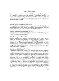 Notices biographiques - Berner Zeitschrift für Geschichte