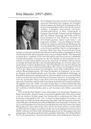 Nachruf Fritz Häusler (1917-2001) - Berner Zeitschrift für Geschichte