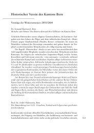 Vorträge des Wintersemesters 2003/2004 - Berner Zeitschrift für ...