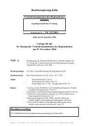 Tagesordnungspunkt 3-1 - Bezirksregierung Köln