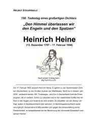 Heinrich Heine - Bund für Geistesfreiheit Bayern K.d.ö.R.