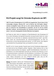 EU-Projekt sorgt für Gründer-Euphorie am BFI - BFI Oberösterreich