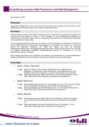 Ausbildung zum/zur Nail-Technican und Nail-Designer/in