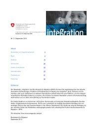 Newsletter integration Nr. 3 / September 2013 - Bundesamt für ...