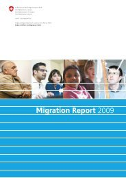 Migration Report 2009 - Bundesamt für Migration - admin.ch