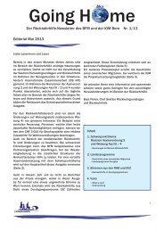 Going Home Nr. 1 / Mai 2013 - Bundesamt für Migration - admin.ch