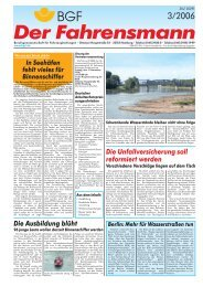 Ausgabe 03/2006 - Berufsgenossenschaft für Transport und ...