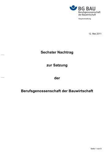6. Nachtrag - BG Bau
