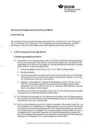 3. Nachtrag zur Satzung - Berufsgenossenschaft Holz und Metall