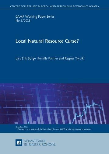 Local Natural Resource Curse? - BI Norwegian Business School