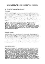 weiterlesen - Evangelische Vereinigung für Bibel und Bekenntnis in ...