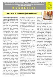 November 2010 - Evangelische Vereinigung für Bibel und ...