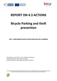 REPORT ON 4.3 ACTIONS Bicycle Parking and theft prevention