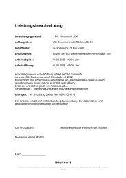 Ausschreibung Kommunal LKW - Biedermannsdorf