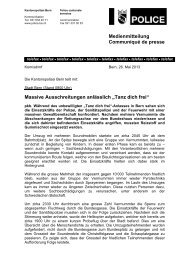 Tanz dich frei - Communiqué der Kantonspolizei Bern - Bieler Tagblatt