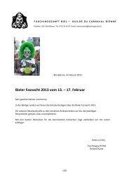 Bieler Fasnacht 2013 vom 13. – 17. Februar - Bieler Tagblatt
