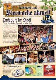 Endspurt im Stadl - Bierfestzeitung