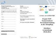 Projekt TOP - Teamorientierte Personalentwicklung in ... - BiG Essen