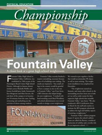 Fountain Valley High School, Fountain Valley, California