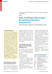 Auto-Antikörper-Messungen: Bei welchen klinischen Symptomen?