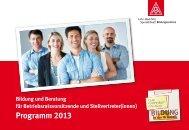 Programm 2013 - Bildungszentrum Lohr - Bad Orb