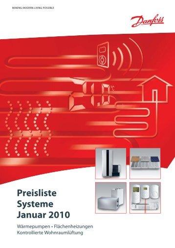 Preisliste Systeme Januar 2010 - Regelungssysteme für die ...