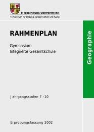 Rahmenplan Geografie - Bildungsserver Mecklenburg-Vorpommern