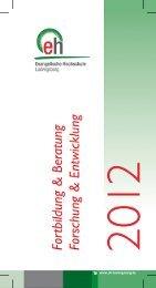Fortbildungsprogramm 2012 - Bildungsportal der Evangelischen ...