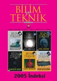 2005 ‹ndeksi - TÜBİTAK Bilim ve Teknik Dergisi